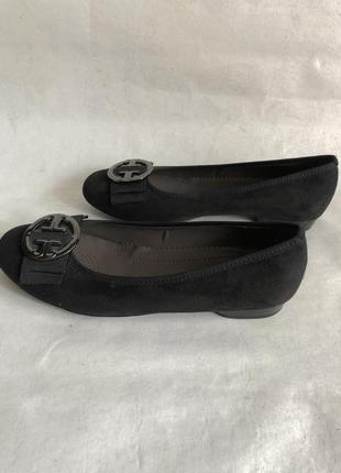 Замшевые туфли балетки4 фото