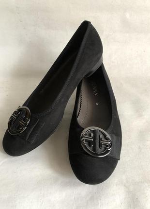 Замшевые туфли балетки3 фото