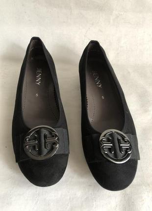 Замшевые туфли балетки2 фото