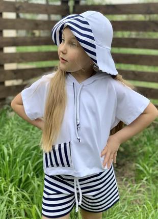 Костюм детский полосатый морячка