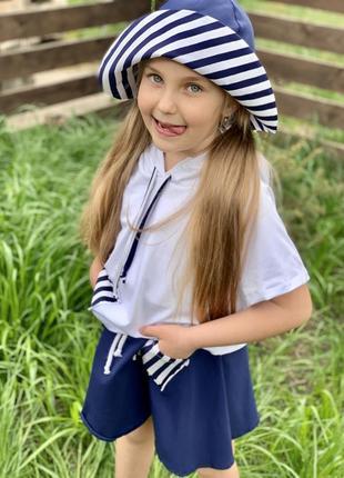 Костюм морячка для девочки3 фото