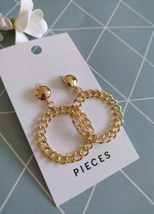 Сережки підвіски кільця, серьги гвоздики кольца pieces asos