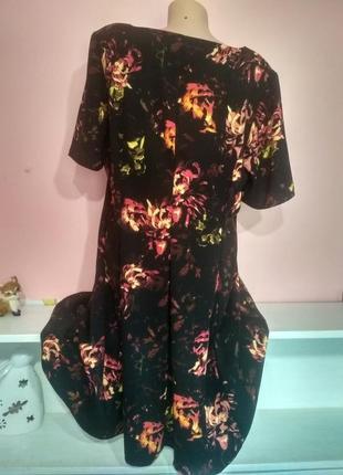 Платье с огненными пионами4 фото