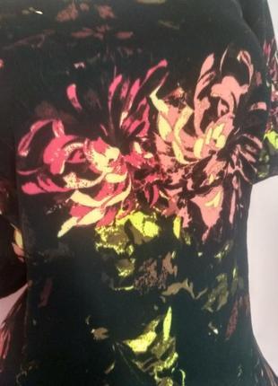 Платье с огненными пионами2 фото