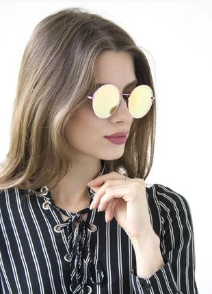 Круглые очки цветрозово-малиновый