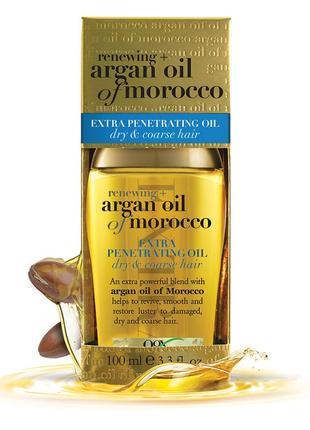 Профессиональное аргановое масло для волос ogx argan oil of morocco usa