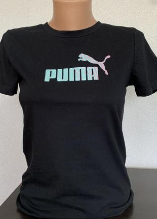 Чёрная футболка puma оригинал