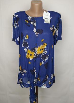 Блуза новая натуральная шифоновая в цветочный принт next uk 10/38/s