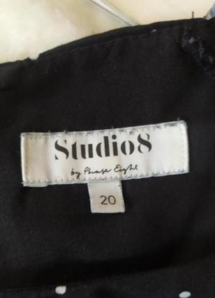 Платье миди в горох 20 размер сукня міді в горох4 фото
