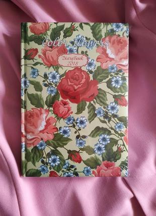 Записная книжка с розами цветами блокнот