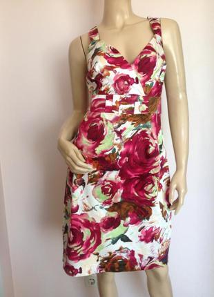 Хлопковое платье в цветы /l/xl/  brend kaleidoscope