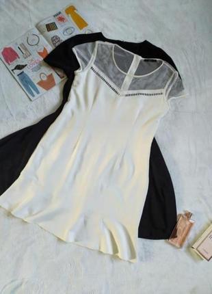Платье миди нюдовое шампань сукня міді бежева