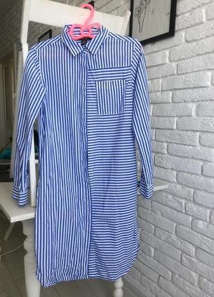 Платье -рубашка 100% cotton