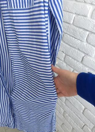 Платье -рубашка 100% cotton6 фото
