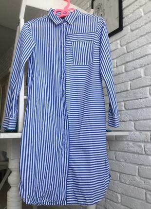 Платье -рубашка 100% cotton2 фото