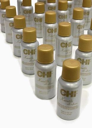 Кератиновый шелк для волос chi keratin silk infusion keratin & silk reconstructing сша