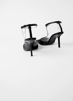 Кожаные туфли на каблуке zara4 фото