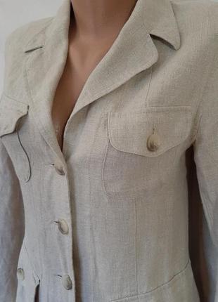Льняной пиджак жакет с карманами лён kappahl2 фото