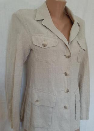 Льняной пиджак жакет с карманами лён kappahl4 фото
