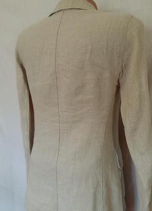 Льняной пиджак жакет с карманами лён kappahl5 фото