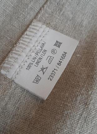 Льняной пиджак жакет с карманами лён kappahl6 фото
