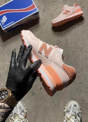 Кроссовки new balance 574 pink wl574swa (оригинал)4 фото