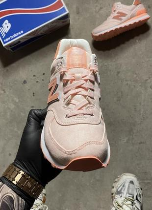 Кроссовки new balance 574 pink wl574swa (оригинал)8 фото