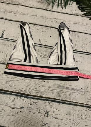 Asos купальник раздельный полосатый5 фото