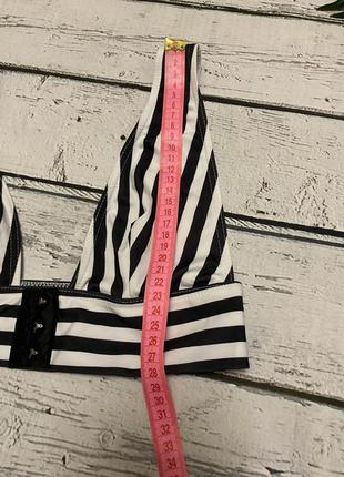 Asos купальник раздельный полосатый6 фото