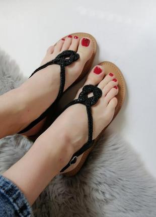 Женские кожаные босоножки босоніжки шкіра сандалии вьетнамки 41-42р