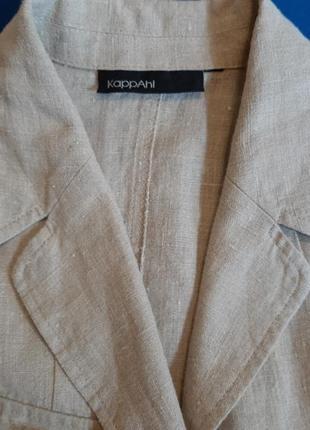 Льняной пиджак жакет с карманами лён kappahl7 фото