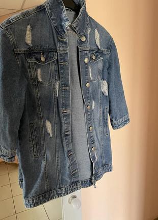 Продам итальянский джинсовый пиджак  to be too
