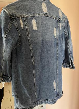 Продам итальянский джинсовый пиджак  to be too3 фото