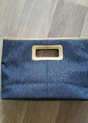 Сумка клатч джинсовая
