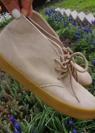Ботинки кеды   осень-весна слипы натуральный замш  от gap