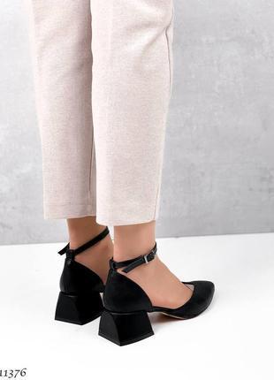 Туфли чёрные кожа5 фото