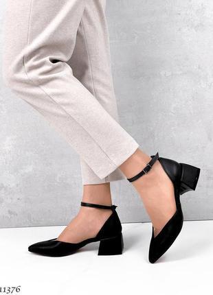 Туфли чёрные кожа3 фото