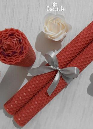 Ароматный наборчик из 3 розовых свечей💟