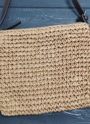 Лёгкая соломенная сумка cross-body5 фото