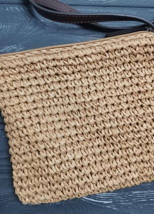 Лёгкая соломенная сумка cross-body8 фото