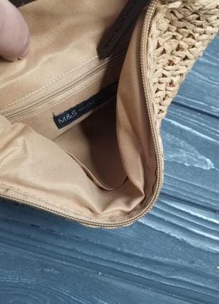 Лёгкая соломенная сумка cross-body6 фото