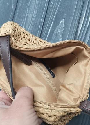 Лёгкая соломенная сумка cross-body7 фото