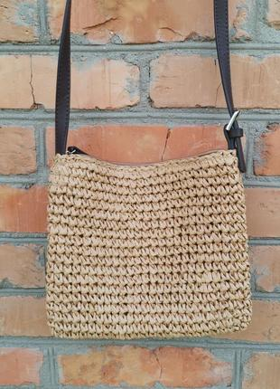 Лёгкая соломенная сумка cross-body1 фото