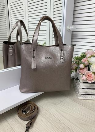 Женская стильная сумка среднего размера,на три отделения