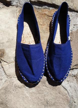 Синие эспадрильи.23,5-24 см.