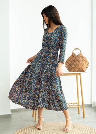 Хлопковое платье в цветочек6 фото