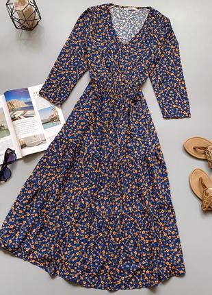 Хлопковое платье в цветочек10 фото