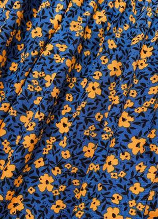 Хлопковое платье в цветочек9 фото