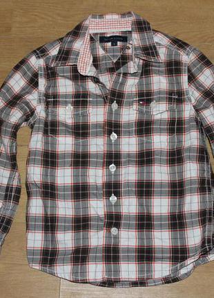 Стильная рубашка в клетку tommy hilfiger