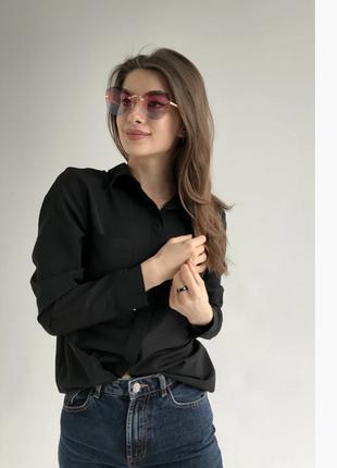 Модные солнцезащитные очки 2021 цвет:розово-голубой